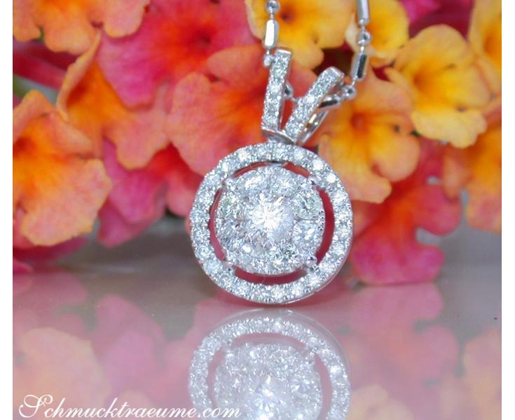 Diamanten Anhänger in Weißgold 750