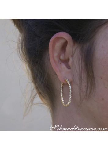 Handsome Diamond Hoop Earrings (Ø 35 mm)