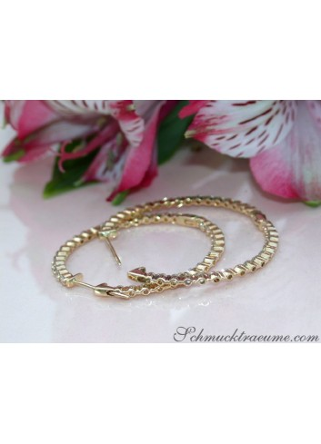 Handsome Diamond Hoop Earrings (Ø 35 mm)