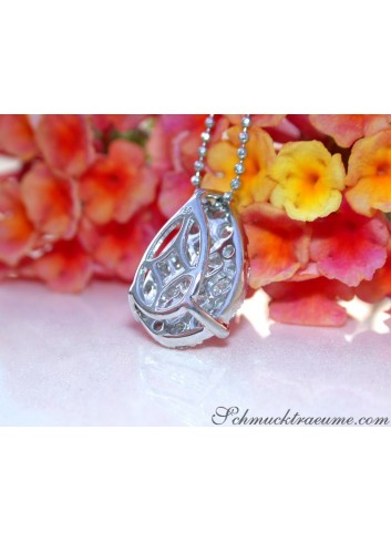 Picture Perfect Diamond Pear Pendant with Princess Diamonds