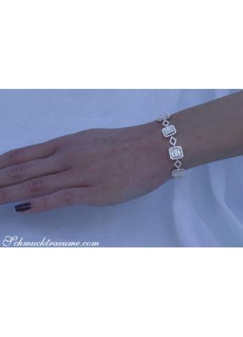 Brillanten Armband mit Baguette Diamanten