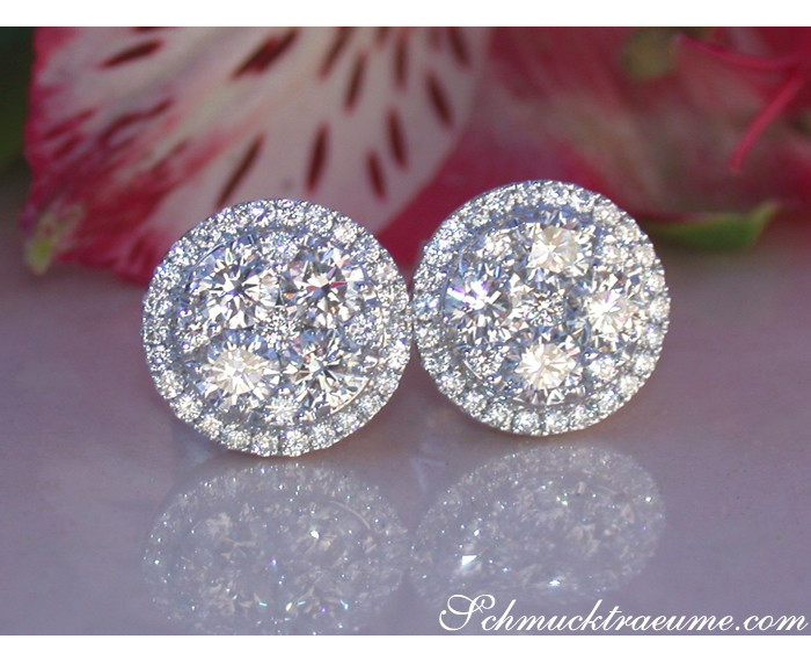 Exquisite Round Diamond Studs