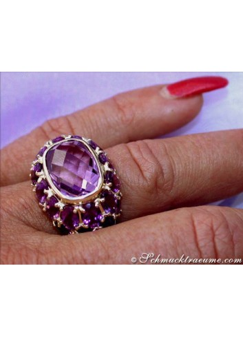 Amethyst Ring in Gelbgold 585
