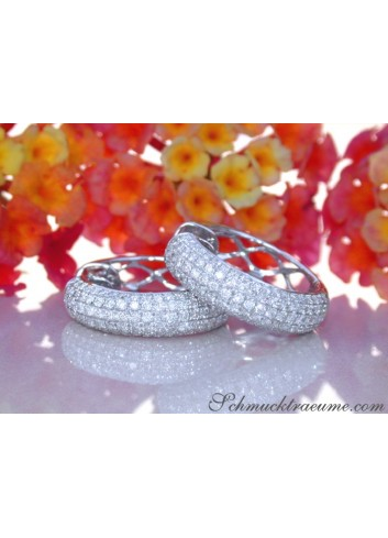 Precious Diamond Pave Hoop Earrings