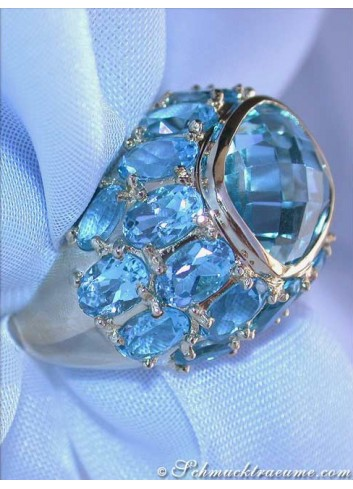 Huge Blue Topaz Ring