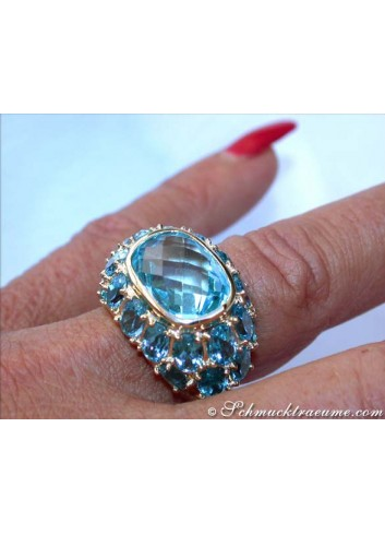 Stately Blue Topaz Ring