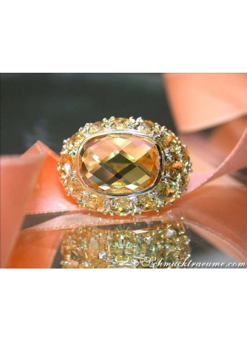 Citrin Ring in Gelbgold 585