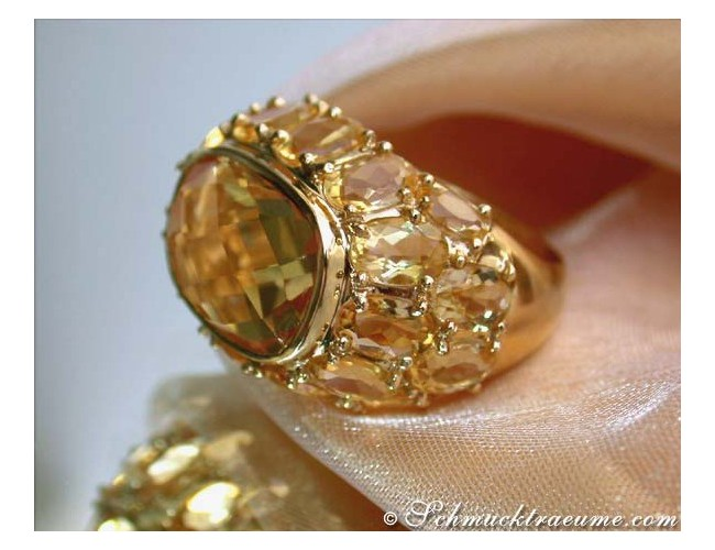 Huge Citrine Ring
