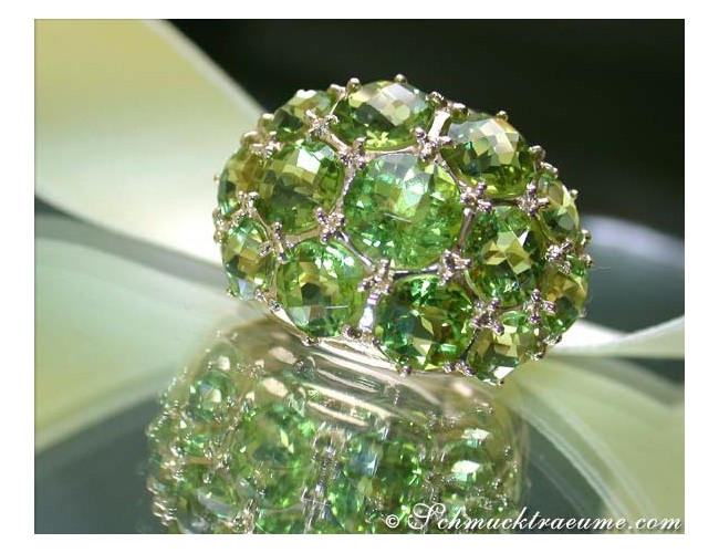 Peridot Ring in Gelbgold 585