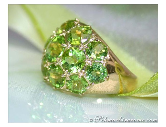 Huge Peridot Dome Ring