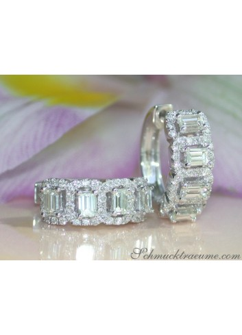 Beautiful Baguette Diamond Earrings