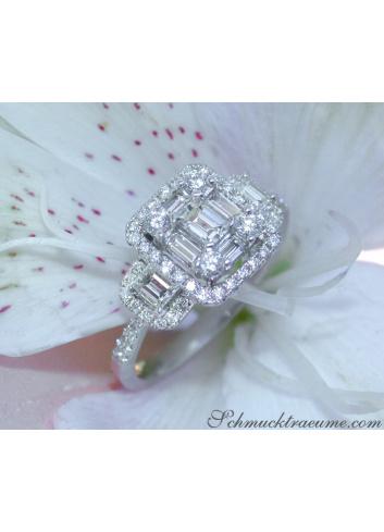 Diamanten Ring in Weißgold 750