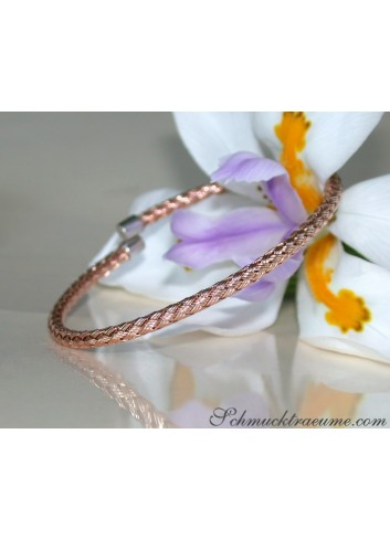 Braided Rosegold Bangle