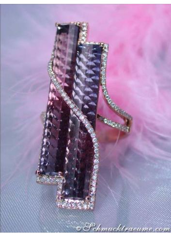 Rosa Turmalin Ring Roségold 750
