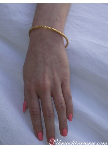 Braided Yellowgold Bangle