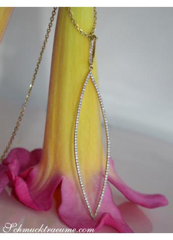 Diamant Kette in Gelbgold 750