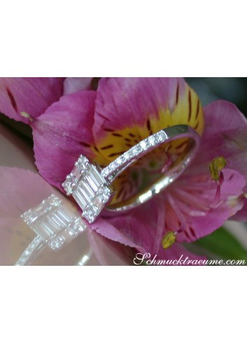 Picture Perfect Diamond Square Ring