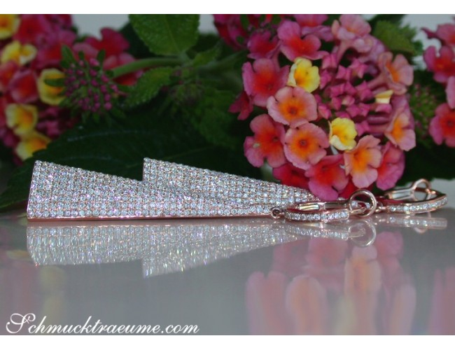 Ausgefallene Diamanten Ohrringe in Roségold