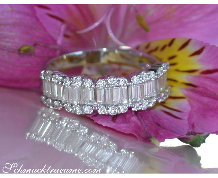 Eleganter Diamant Ring in Weißgold 750