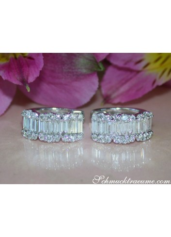 Precious Diamond Earrings in Whitegold 18k