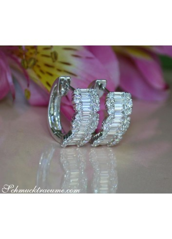 Precious Diamond Earrings in Whitegold 18k
