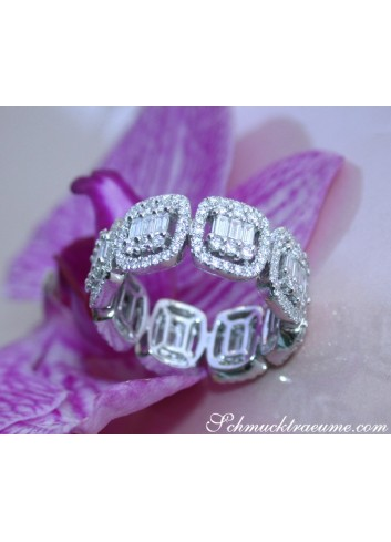 Magnificent Diamond Eternity Band (Square Style)