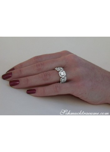 Diamant Memory Ring in Weißgold 750