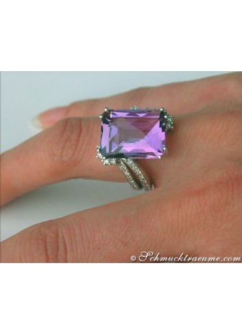 Amethyst Ring in Weißgold 585