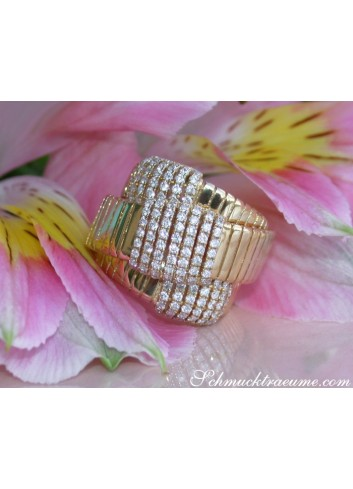 Diamant Ring in Gelbgold 750