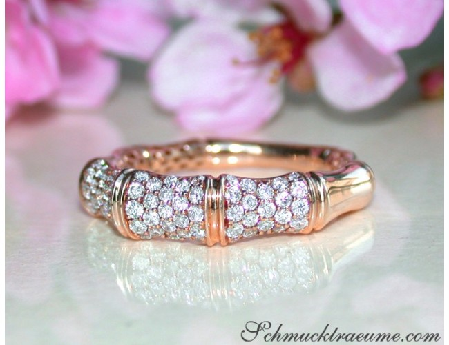 Interesting Diamond Bamboo Ring