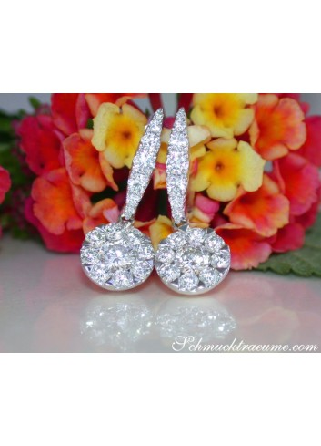 Magnificent Diamond Earrings (Illusion Design)