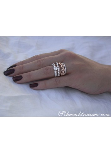 Multirow Diamond Ring in Whitegold and Rosegold