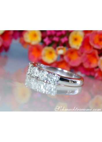 Stately Diamond Band in Whitegold