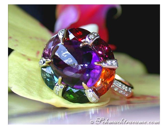 Multicolor Edelstein Ring