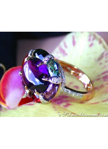 Unusual Multicolor Gemstone Ring