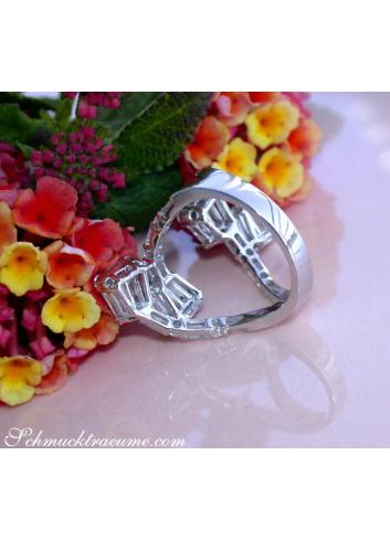 Extravaganter Diamant / Brillant Ring in Weißgold 750