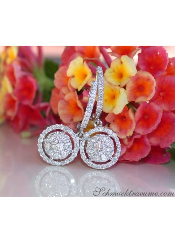Enchanting Diamond Earrings in Whitegold 18k