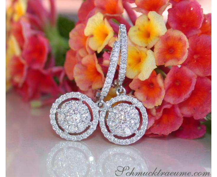 Diamant Ohrringe in Weißgold 750