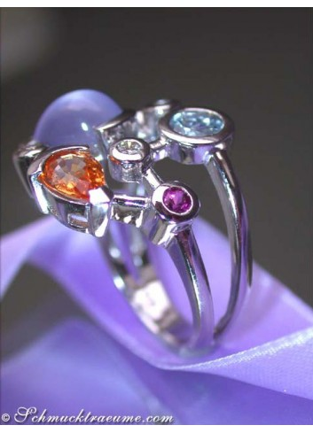 Elegant Multicolor Gemstone Ring