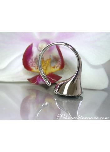 Ring mit Flieder farbenen Amethyst und Brillanten