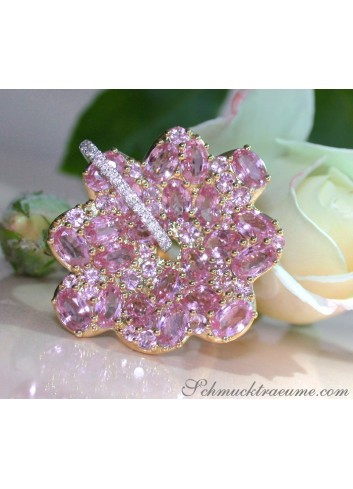 Magnificent Pink Sapphire Blossom Ring