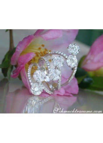 Unique Diamond Ring with Marquise & Princess Diamonds