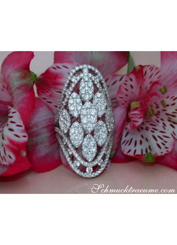 Auffallender Brillanten Ring in Weißgold 750