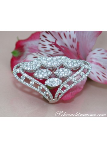 Opulent Marquise Style Diamond Ring