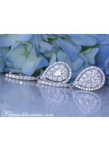 Timeless Diamond Pear Earrings