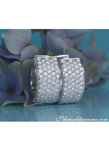 Timeless Diamond Earrings in Whitegold 18k