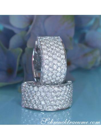 Timeless Diamond Earrings in Whitegold 18k