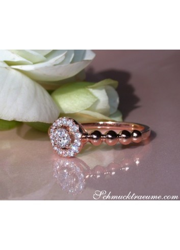Brillant Verlobungsring in Roségold 750