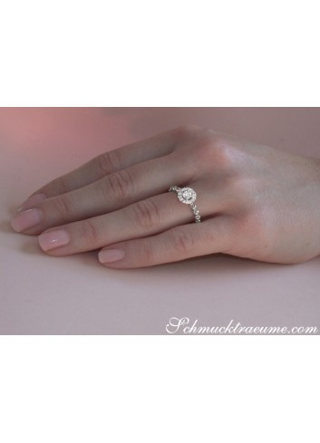 Delicate Diamond Ring (Ball Style)