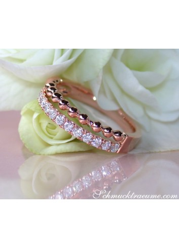Diamanten Brillanten Bandring in Roségold 750